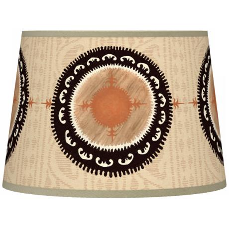 Travelers Compass Tapered Giclee Lamp Shade 10x12x8 (Spider)