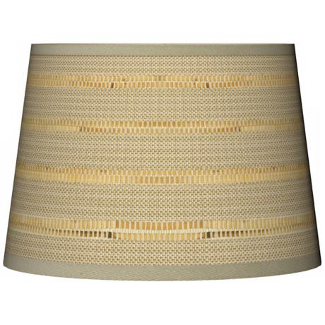 Woven Reed Tapered Giclee Lamp Shade 10x12x8 (Spider)