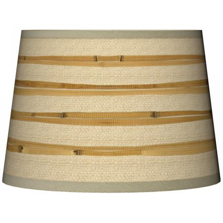 Bamboo Wrap Tapered Giclee Lamp Shade 10x12x8 (Spider)