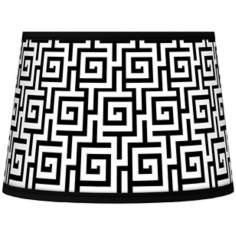 Greek Key Giclee Tapered Lamp Shade 10x12x8 (Spider)