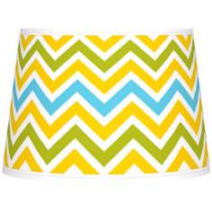 Citrus Zig Zag Giclee Tapered Lamp Shade 10x12x8 (Spider)