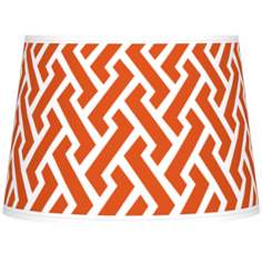 Red Brick Weave Giclee Tapered Lamp Shade 10x12x8 (Spider)