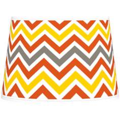 Flame Zig Zag Tapered Lamp Shade 10x12x8 (Spider)