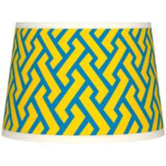 Yellow Brick Weave Tapered Lamp Shade 10x12x8 (Spider)