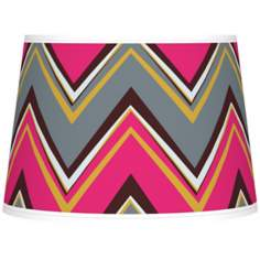 Stacy Garcia Chevron Pride Pink Tapered Shade 10x12x8 (Spider)