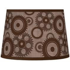 Industrial Gears Tapered Lamp Shade 10x12x8 (Spider)