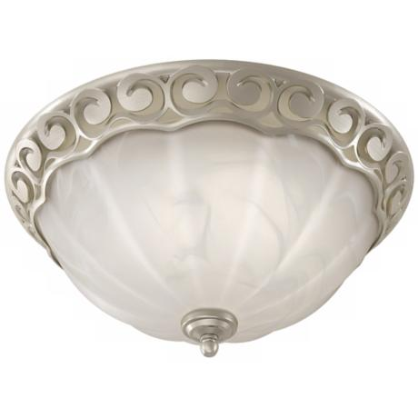 Decorative Scroll Brushed Nickel Bathroom Fan with Light