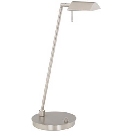 Holtkoetter Bernie Satin Nickel Energy Saver Desk Lamp