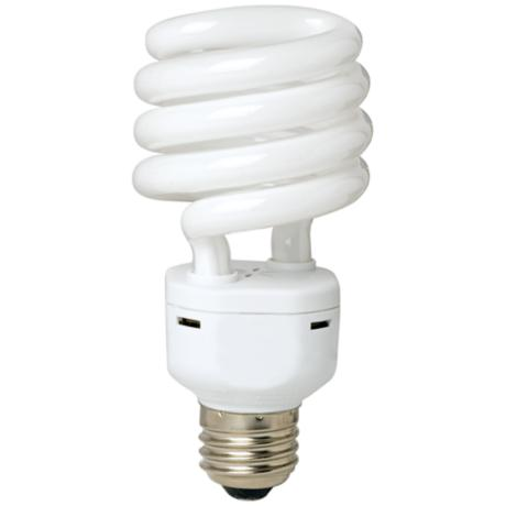 Tesler 25 Watt Warm White Energy Star Spiral CFL Bulb