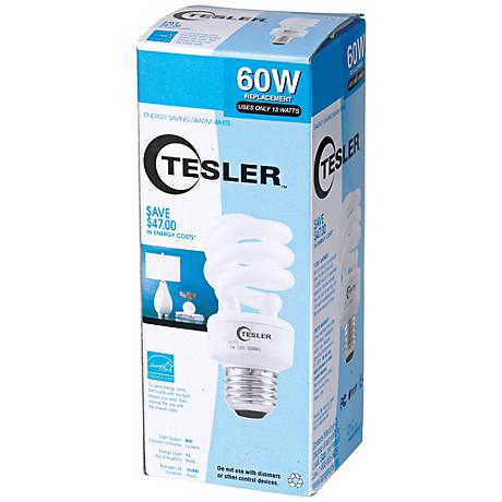 Tesler 13 Watt Warm White ENERGY STAR® Spiral CFL Bulb