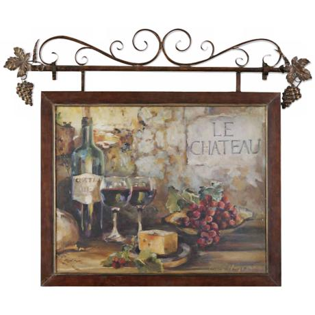 Uttermost Le Chateau Print Sign Wall Art