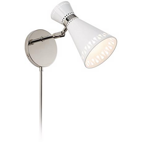 Jonathan Adler Havana Polished Nickel Plug-In Sconce