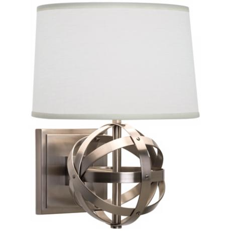Robert Abbey Lucy Dark Nickel Finish Plug-In Wall Sconce