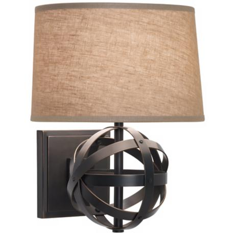 lucy bronze finish plug in wall sconce k8085. Black Bedroom Furniture Sets. Home Design Ideas