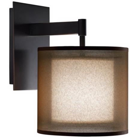 Robert Abbey Saturnia Bronze Plug-In Wall Sconce