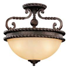 "San Gallo Collection 15 3/4"" Wide Semiflush Ceiling Light"