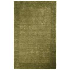 Auckland Collection Fern Green Wool Area Rug