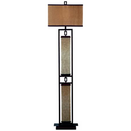 Kenroy Plateau Bronze Finish Floor Lamp