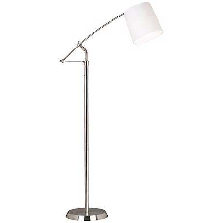 Kenroy Reeler Brushed Steel Balance Arm Floor Lamp