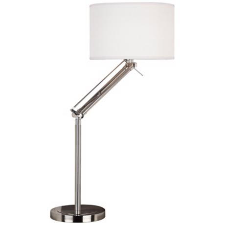 Kenroy Hydra Brushed Steel Adjustable Desk Lamp