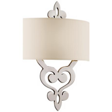 "Olivia Polished Nickel 18"" High Wall Sconce"