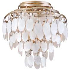 "Dolce Capiz Shell 12"" Wide Semiflush Ceiling Light"