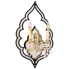 "Bijoux Crystal 23"" High Wall Sconce"