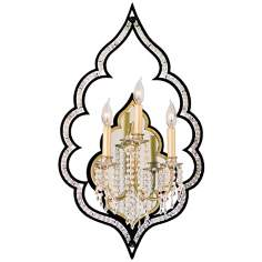 "Bijoux Crystal 29"" High Wall Sconce"