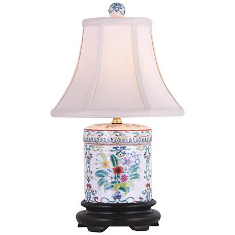 Porcelain Jar Hand Painted Table Lamp