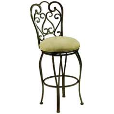 "Pastel Magnolia Swivel 30"" High Bar Stool"
