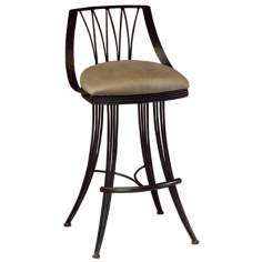 "Pastel Metropolitan Swivel 30"" High Bar Stool"