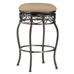"Hillsdale Lincoln Backless Swivel 26"" High Counter Stool"