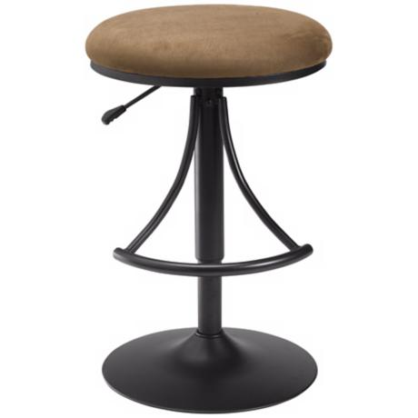 Hillsdale Venus Brown Swivel Adjustable Bar or Counter Stool