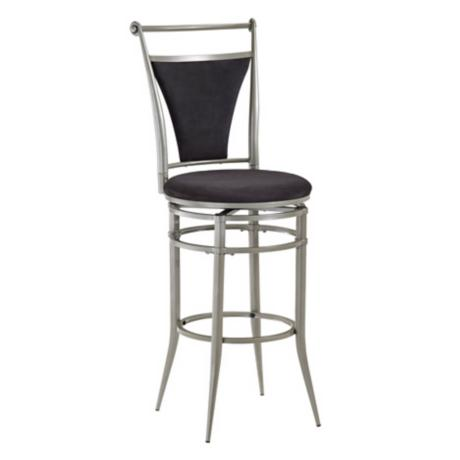 "Hillsdale Cierra Black Swivel 30"" High Bar Stool"