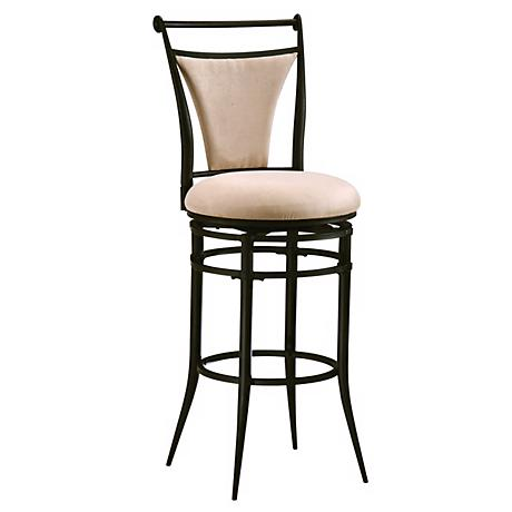"Hillsdale Cierra Fawn Swivel 26"" High Counter Stool"