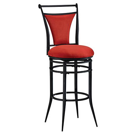 "Hillsdale Cierra Flame Swivel 26"" High Counter Stool"