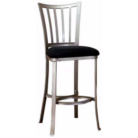 "Hillsdale Delray Pewter 30"" High Modern Bar Stool"