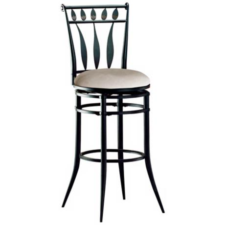 "Hillsdale Hudson Black Swivel 30"" High Bar Stool"