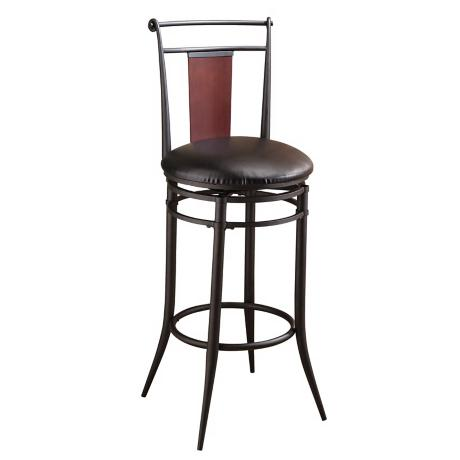 "Hillsdale Mid Town Swivel 30"" High Bar Stool"