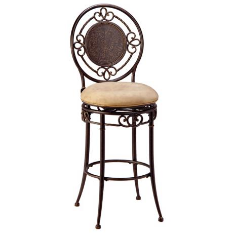"Hillsdale Richland Armless Swivel 26"" High Counter Stool"