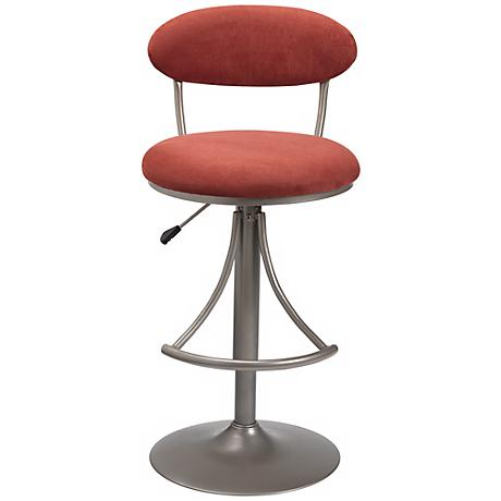 Hillsdale Venus Flame Contemporary Adjustable Bar Stool