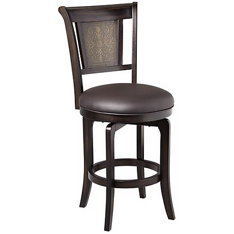 "Hillsdale Camille Swivel 26 1/2"" High Counter Stool"