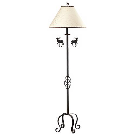 "Iron Deer 63 1/2"" High Floor Lamp"