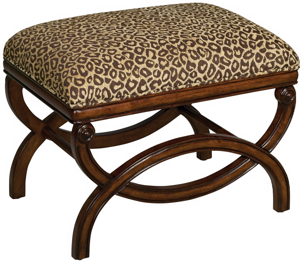 Furniture Living Room Furniture Ottoman Animal Print Ottoman