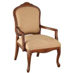 Jacqueline Diamond Print Fabric Accent Chair