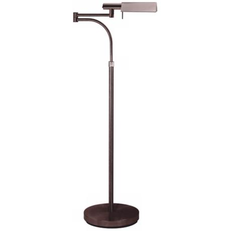 Sonneman E-Tenda Rose Bronze Swing Arm Pharmacy Floor Lamp