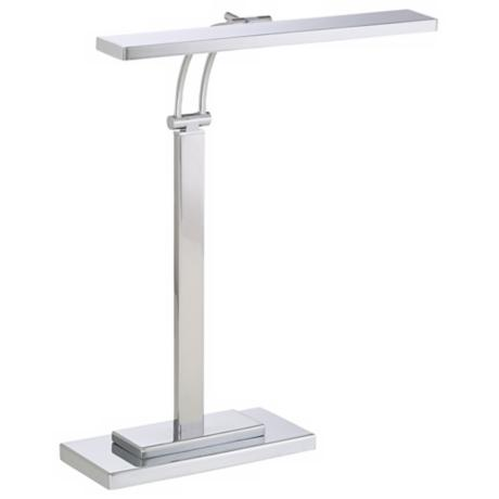 LED Banker's Chrome Finish Adjustable Desk Lamp