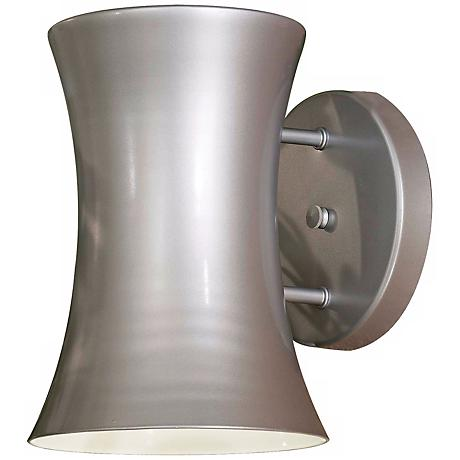 "Forio 9 1/2"" High Silver Outdoor Wall Light"