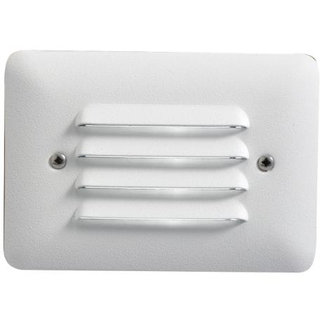 Kichler White Finish Louvered LED Step Light