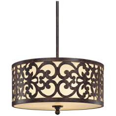 "3-Light 16"" Wide Nanti Pendant Chandelier"